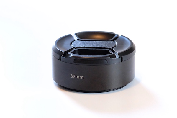 Metal Lens Hood for Lens with 62mm Filter Thread + Cap / Fuji fit:  Fuji XF 23 f/1.4 ,  Fuji XF 56 ,  Fuji XF 90 ,  Fuji XF 55-200