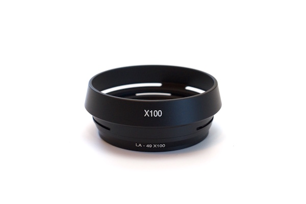 Metal Vented Lens Hood with 49mm Filter Adapter Ring + Cap  for Fujifilm X100 , X100S , X100T , X100F & X70
