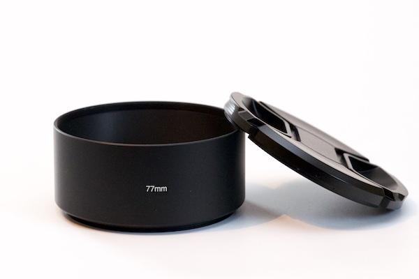 Metal Lens Hood for Tele Lens with 77mm Filter Thread + Cap / Fuji fit: Fuji XF 100-400mm