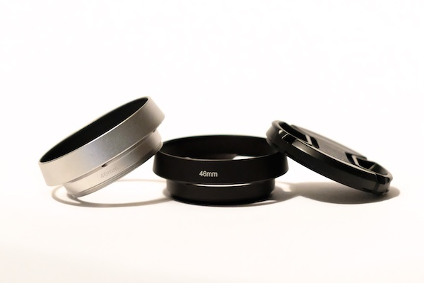 Metal Vented Lens Hood for 46 mm Filter Thread Lens + Cap / Fuji fit: Fujinon XF 50mm f/2 R WR