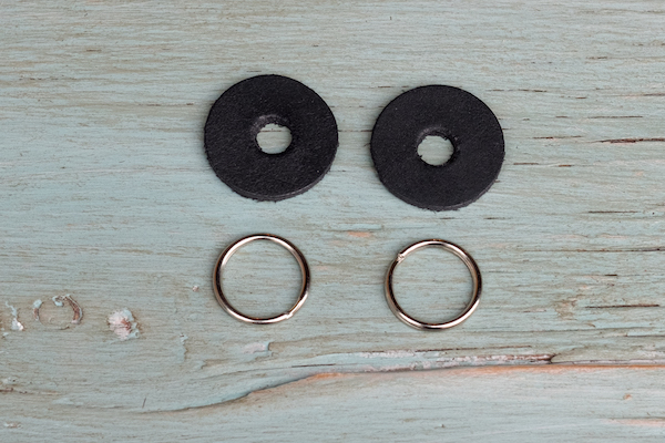 Leather strap protectors + 16mm split rings