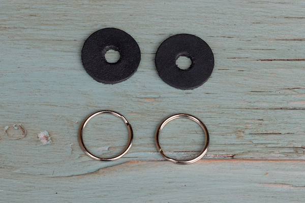 Leather strap protectors + 18mm split rings